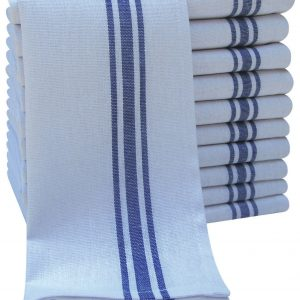 White Cotton Tea Towel - White - Pack of 10 - quick-cleaning-supplies