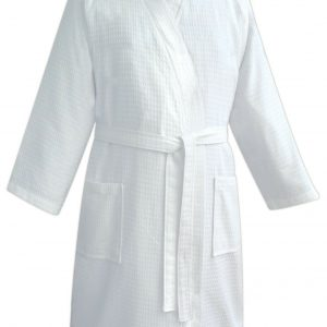Unisex Hotel Spa Waffle 100% Cotton Dressing Gown Bathrobe - quick-cleaning-supplies