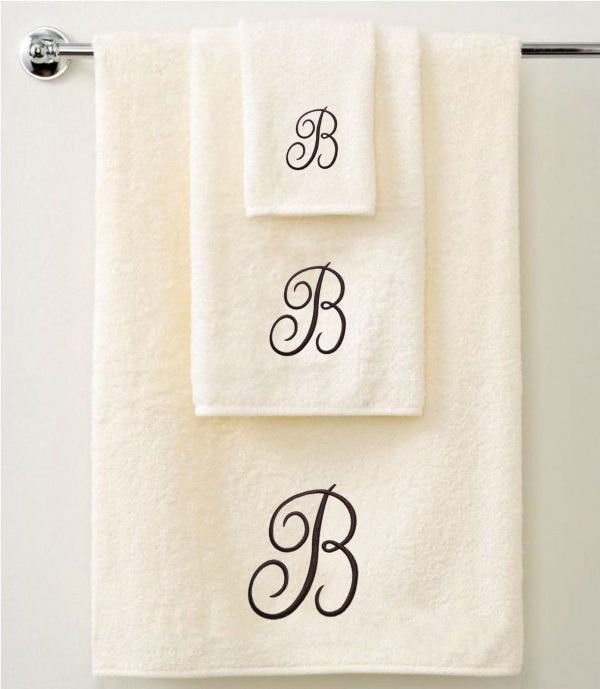 Personalised Towel Gift Set - Brown - Set of 3 - quick-cleaning-supplies