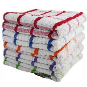 Pack of 6x 12x 100% Egyptian Cotton Super Jumbo Terry Tea Towels Kitchen Dish - quick-cleaning-supplies
