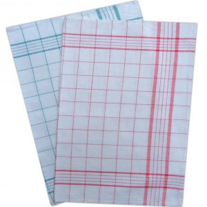 Twill Check Tea Towel Kitchen Towels - White - Pack of 12 - quick-cleaning-supplies