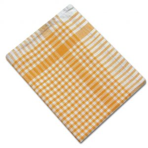 100% Cotton Colour Check Tea Towel - Yellow - Pack of 10 - quick-cleaning-supplies