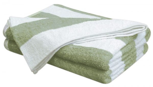 100% Cotton Pool Towels Chlorine Resistant Striped Beach Bath - quick-cleaning-supplies