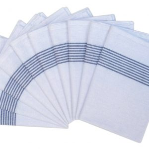 100% Cotton Kitchen Glass Cloths - White - Pack of 10 - quick-cleaning-supplies