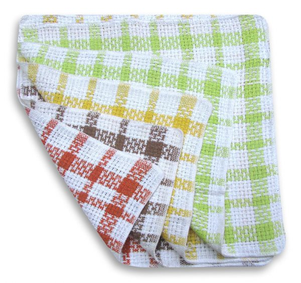Waffle Dishcloths 100% Cotton Checked Dish Cloths Pack Of 12 - quick-cleaning-supplies