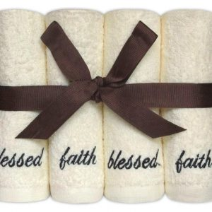 100% Face Cloth Gift Set 'Blessed' - Set of 8 - quick-cleaning-supplies