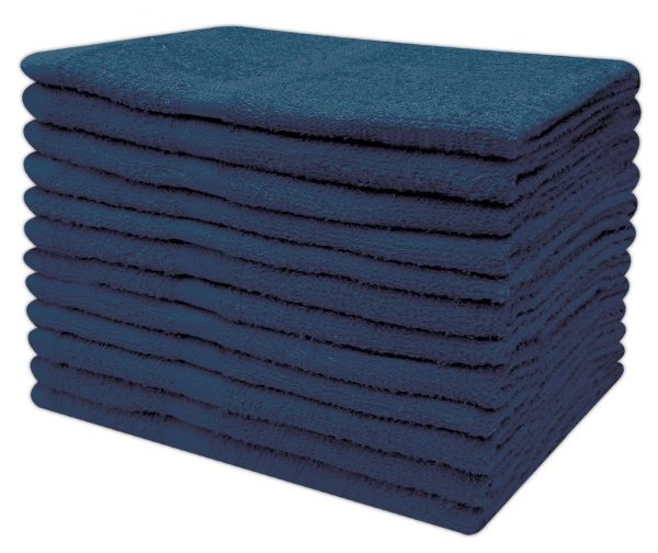 Cheap Hand Towels Budget Quality 300 Gsm - Pack of 12 - quick-cleaning-supplies