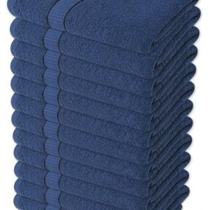 100% Cotton Hairdressing or Beauty Salon Towels - Navy Colour - Pack of 6 - quick-cleaning-supplies