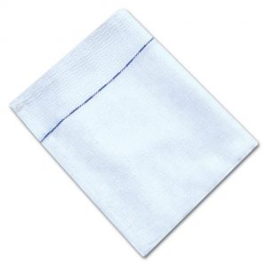 100% Cotton Waiters Cloths With Blue Diced Weave - White - Pack of 10 - quick-cleaning-supplies